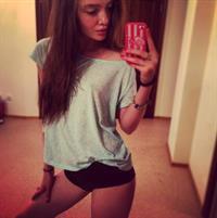 Polina Litvinova taking a selfie
