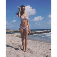 Anika Clarke in a bikini