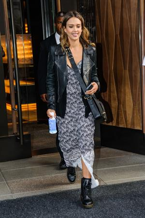 Jessica Alba makes her way out of the Trump Soho Hotel, NYC June 11, 2014