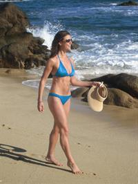Samantha Harris in a bikini