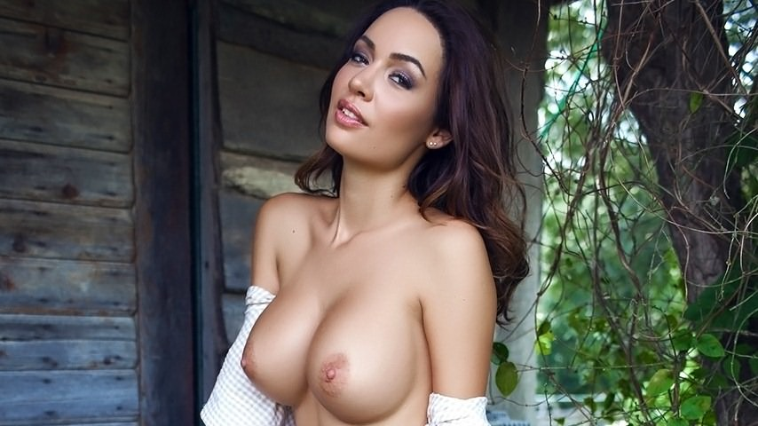 Adrienne nude outside have