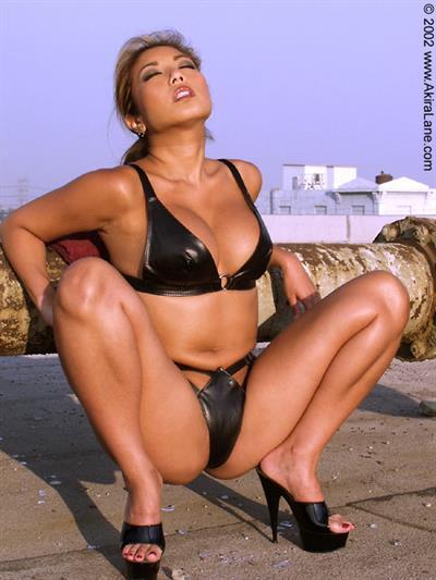 Akira Lane in a bikini