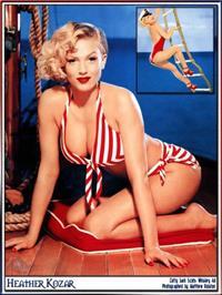 Heather Kozar in a bikini