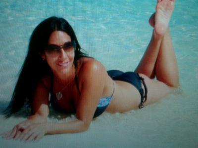 Carla Facciolo in a bikini