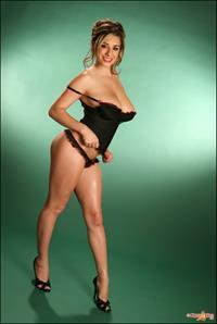 September Carrino in lingerie