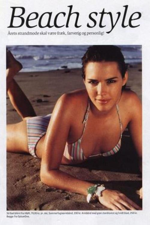 Holly Lynch in a bikini