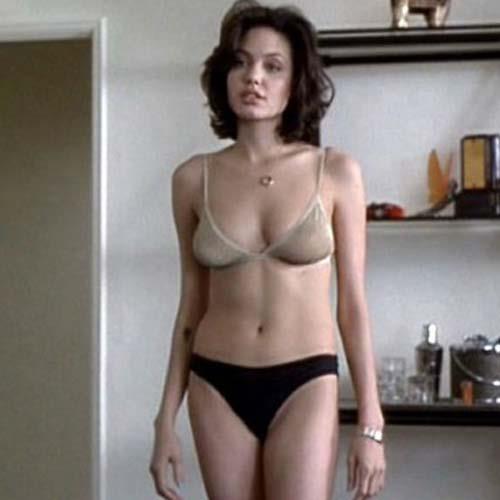 Angelina Jolie in lingerie