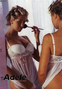 Adele Stephens in lingerie