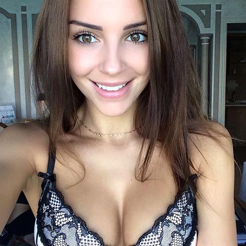 Galina Dubenenko in lingerie taking a selfie