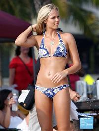 Laura Vandervoort in a bikini