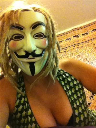 Anonymous taking a selfie