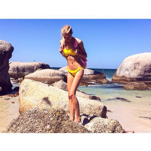 Kimberley Mens in a bikini