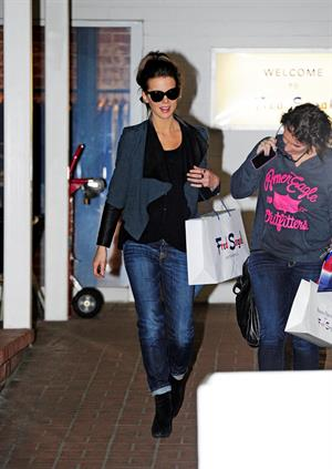 Kate Beckinsale was spotted shopping with a friend at Fred Segal in Santa Monica January 29, 2013
