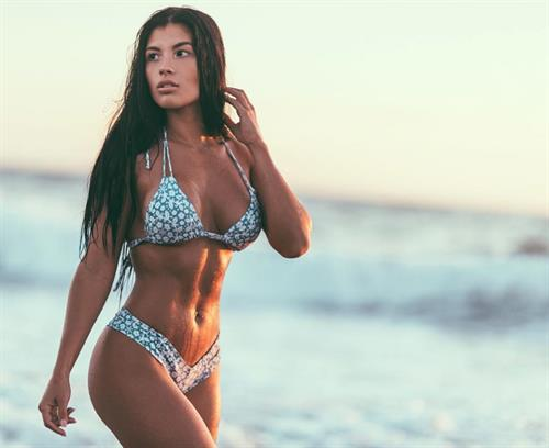 Karen Vi in a bikini