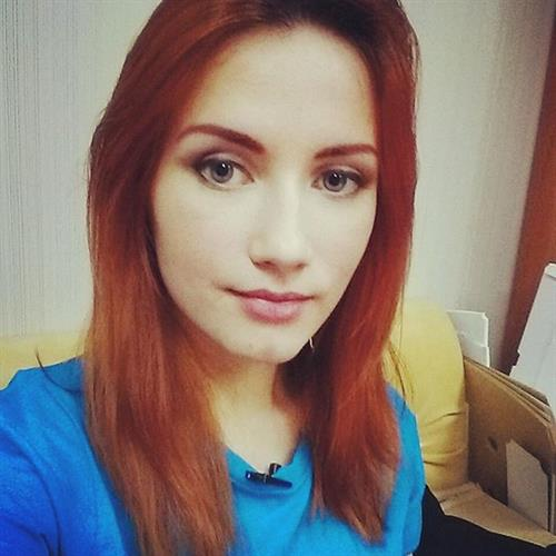 Natasha Firsakova taking a selfie