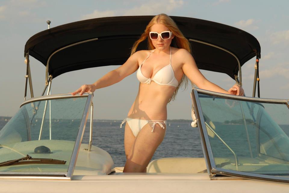 Emily Wells in a bikini