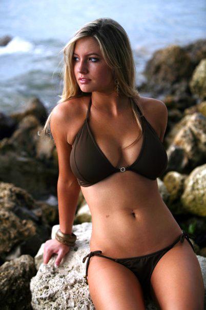 Lilly Robbins in a bikini