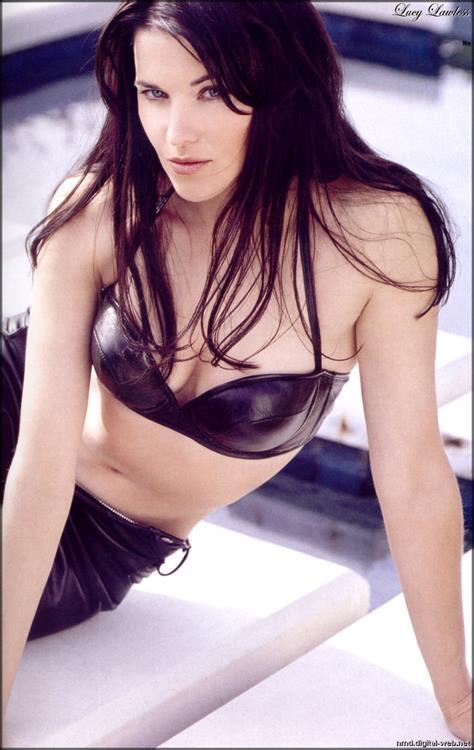 Lucy Lawless in a bikini