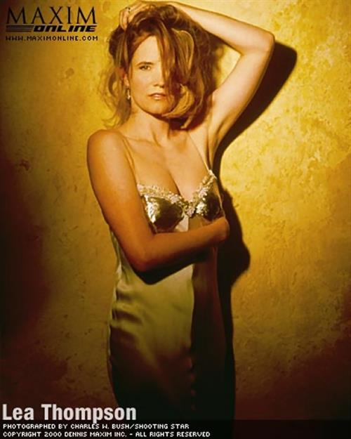Lea Thompson in lingerie