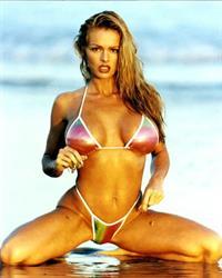 Brooke Richards in a bikini