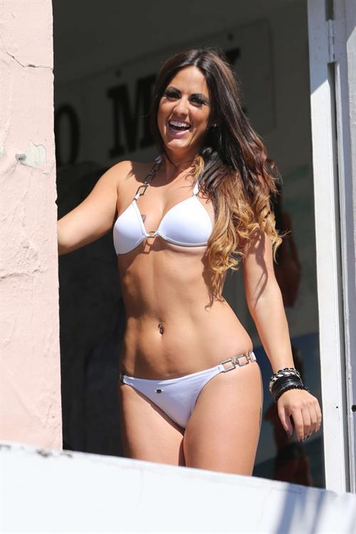 Claudia Romani in a bikini