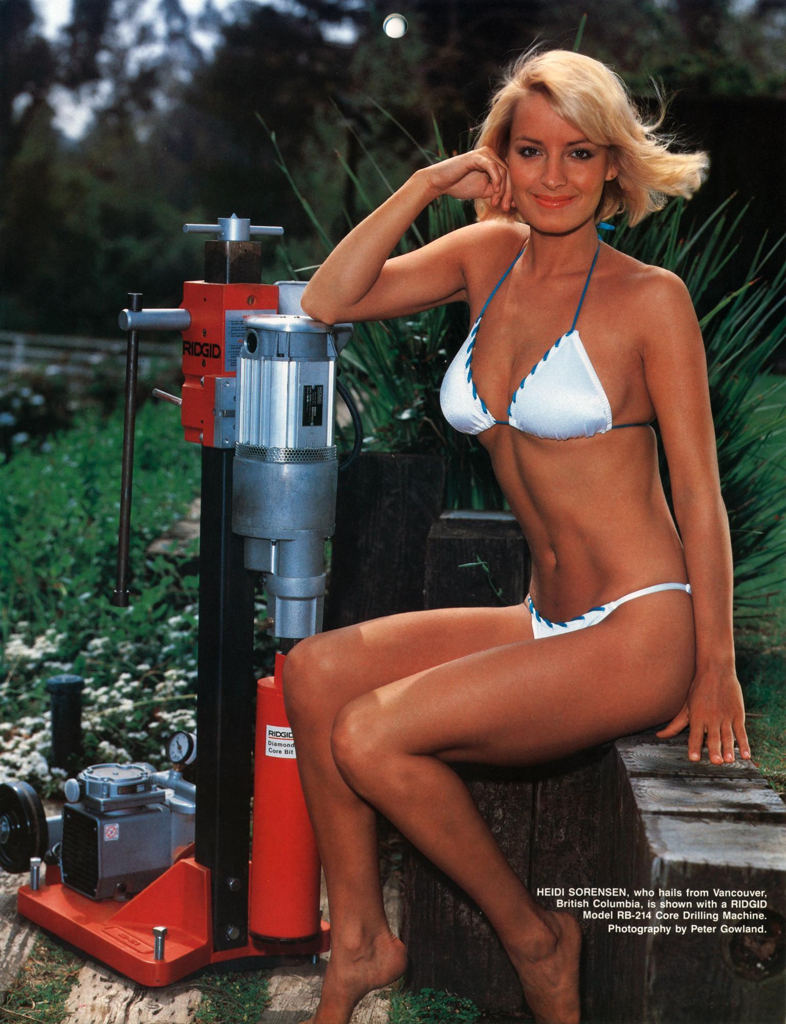 Heidi Sorenson in lingerie