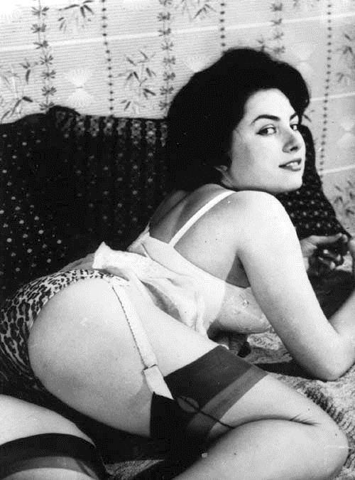 June Palmer in lingerie