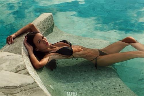 Anastasia Martzipanova in a bikini