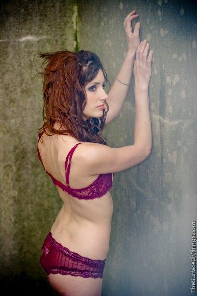 Susan Coffey in lingerie
