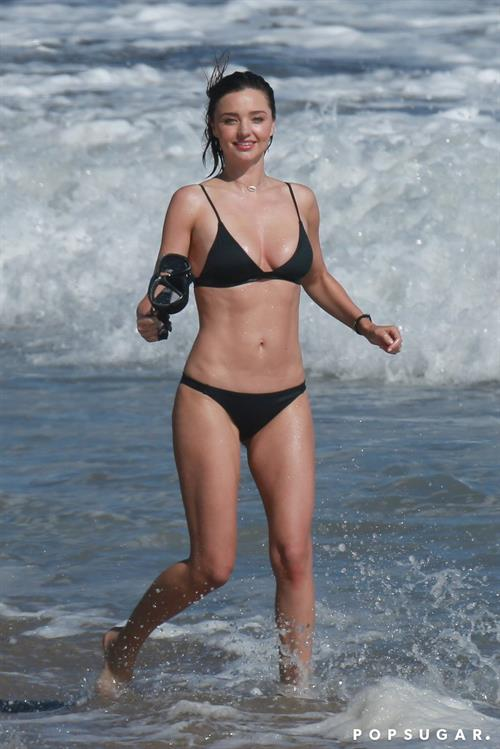 Miranda Kerr Beach Photo Shoot in LA July 2016