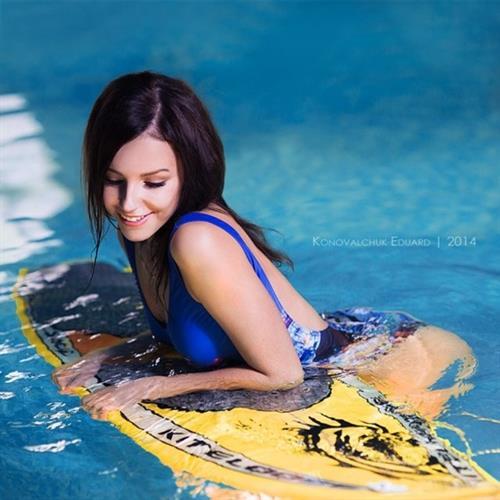 Galina Dubenenko in a bikini