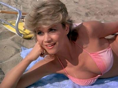Markie Post in a bikini