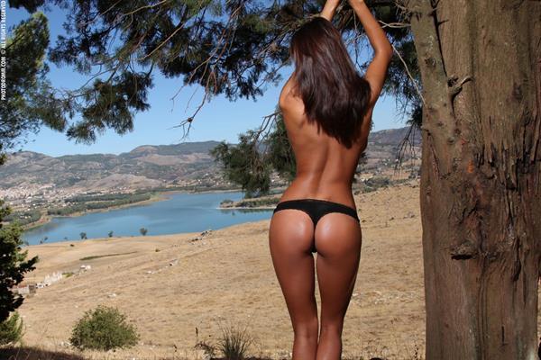 Ela Savanas lingerie ass
