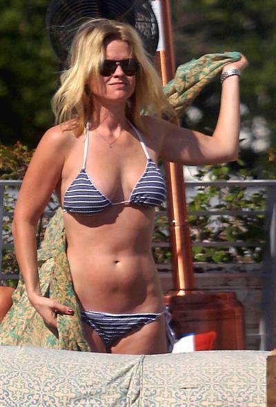 Alice Eve in a bikini