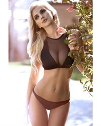 Leanna Bartlett in a bikini
