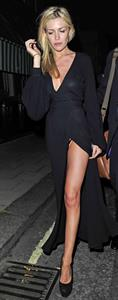 Abigail Clancy leaving Harry's Bar London on July 13, 2011