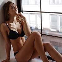 Caroline Kelley in lingerie
