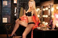 Anna Sophia Berglund in lingerie