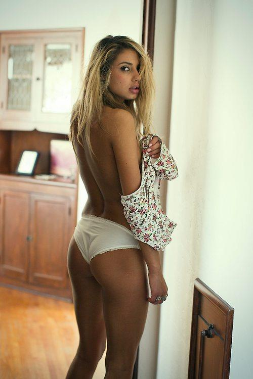 Sahara Ray in lingerie - ass