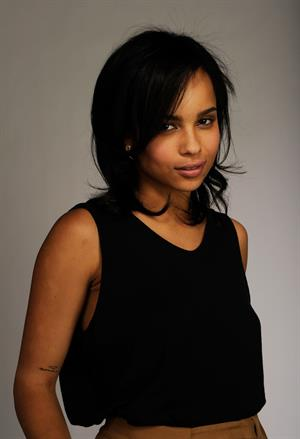 Zoe Kravitz in a black shirt 2010