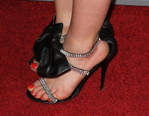 Lucy Hale at the Scream 4 Premiere at Graumans Chinese Theatre in Hollywood April 11, 2011 - close up of her shoes