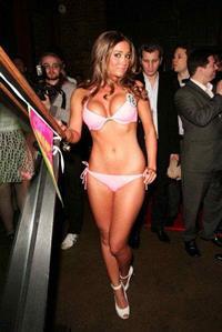 Victoria Moore in lingerie