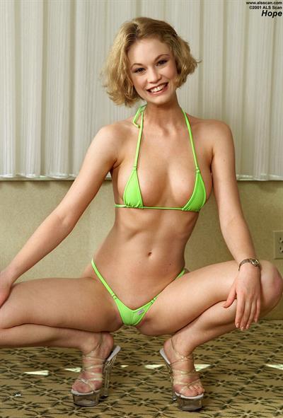 Justine Joli in a bikini