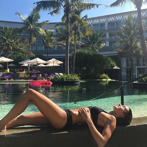 Kayla Itsines in a bikini