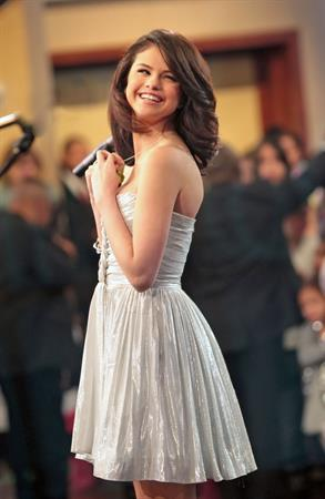 Selena Gomez on the Good Morning America show in New York City, February 11, 2010