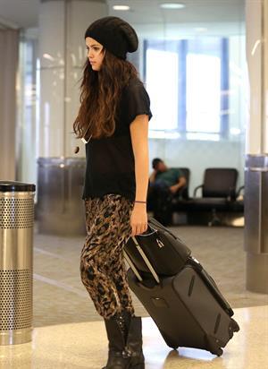 Selena Gomez at Los Angeles airport