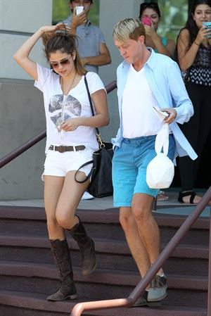 Selena Gomez - Lunch at Yamato Sushi in Encino July 23, 2012