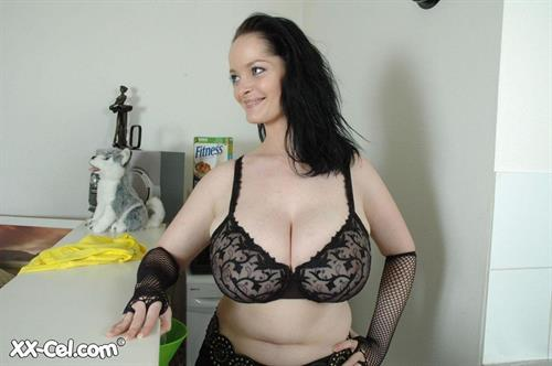 Lisa Frelin in lingerie - breasts