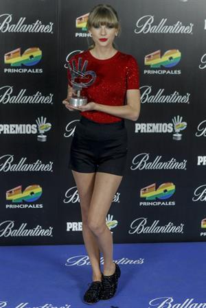 Taylor Swift Los Premios 40 Principales Awards in Madrid January 24, 2013