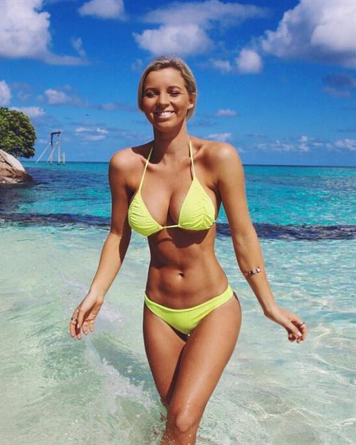 Hannah Polites in a bikini